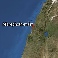 Map of Misrephoth-maim