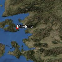 Map of Mitylene