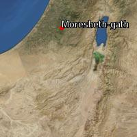 Map of Moresheth-gath
