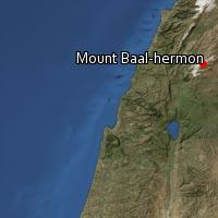 (Map of Mount Baal-hermon)