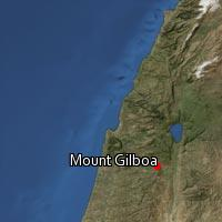 Map of Mount Gilboa