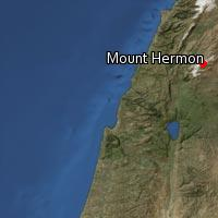 Map of Mount Hermon
