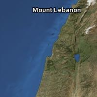 Map of Mount Lebanon