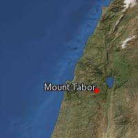 Map of Mount Tabor