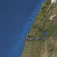 (Map of Naphath-dor)