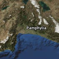 Map of Pamphylia