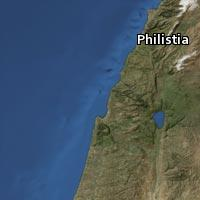 Map of Philistia