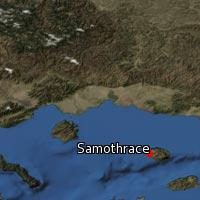 Map of Samothrace