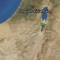 Map of Shaveh-kiriathaim