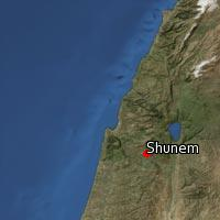 Map of Shunem
