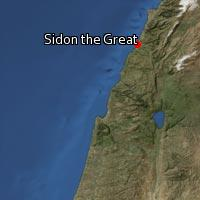 (Map of Sidon the Great)