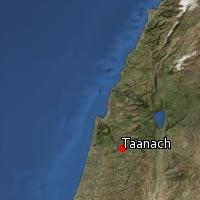 Map of Taanach