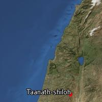 Map of Taanath-shiloh