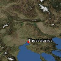 Map of Thessalonica