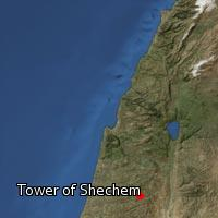 Map of Tower of Shechem