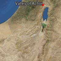 Map of Valley of Achor