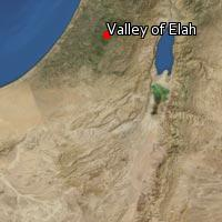 Map of Valley of Elah