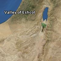 Map of Valley of Eshcol