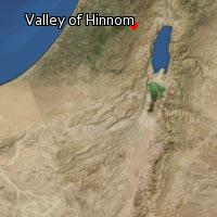 Map of Valley of Hinnom