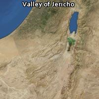Map of Valley of Jericho