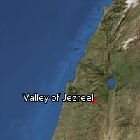 Map of Valley of Jezreel