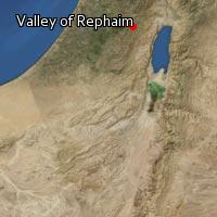 Map of Valley of Rephaim