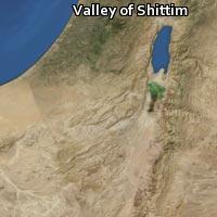 (Map of Valley of Shittim)