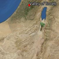 Map of Valley of Sorek