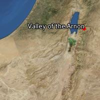 (Map of Valley of the Arnon)