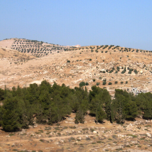 panorama of hills in Idumea
