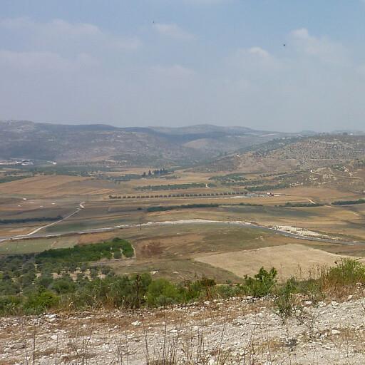 panorama of hills in Samaria 2