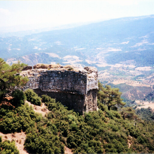 panorama of the citadel of Sardis in Lydia