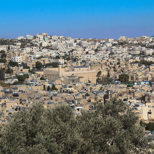 cityscape of Hebron in the Valley of Hebron