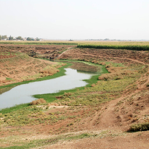 panorama of a river in Aram-naharaim