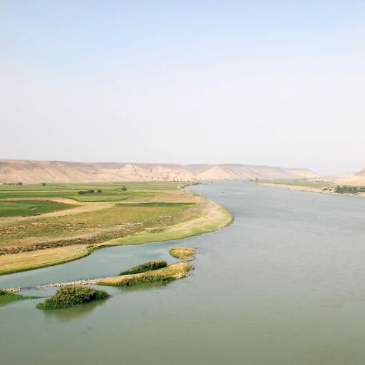 panorama of the Euphrates River in Mesopotamia