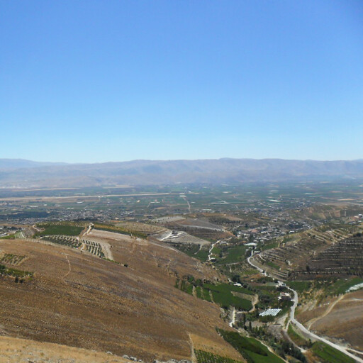 panorama of the Beqaa Valley in Zobah