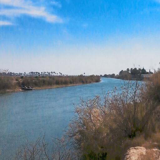 panorama of a river in Pekod