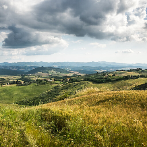 panorama of hills in Italy