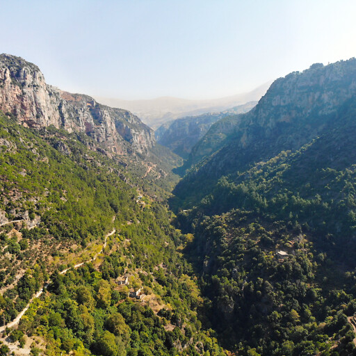 panorama of a valley in Lebanon