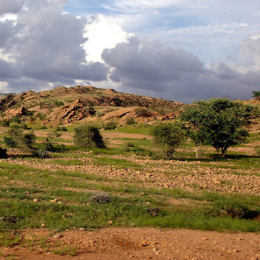 panorama of hills in the historical province of India