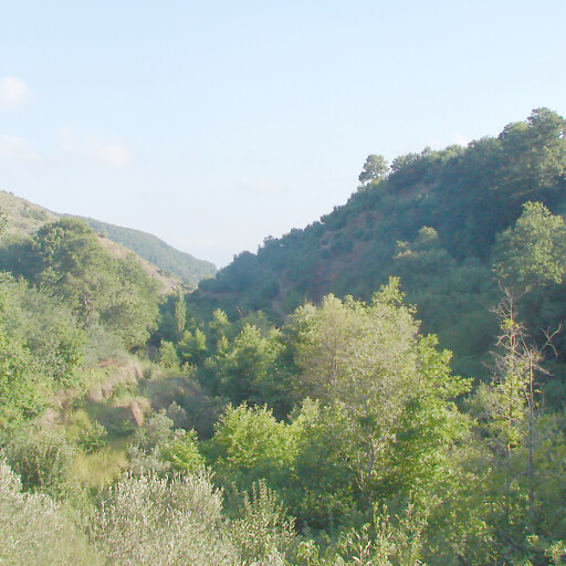 panorama of hills in the province Beyond the River