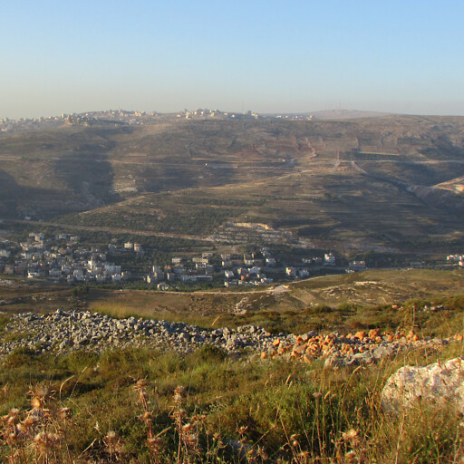 panorama of hills in Mount Ephraim