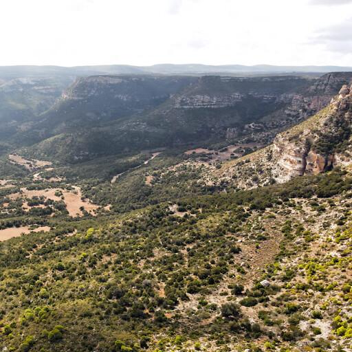 panorama of hills in Libya