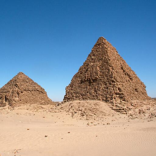 pyramids of Nuri in Cush 1