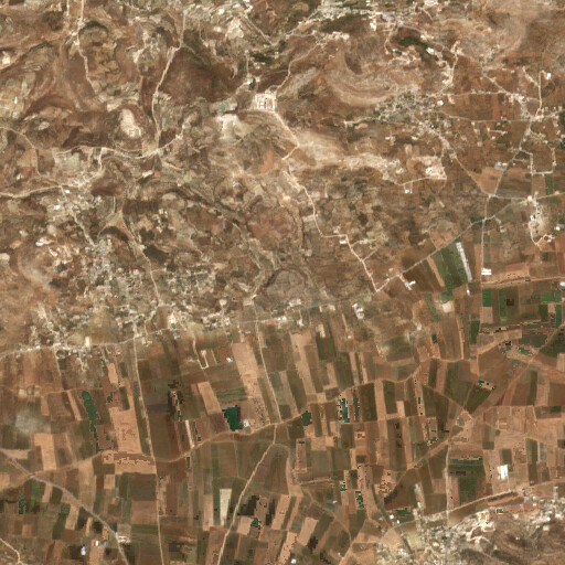 satellite view of the region around Tell el Muhaffar