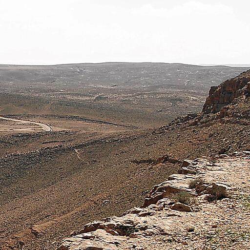 beginning of Wadi Lussan at Makhtesh Ramon