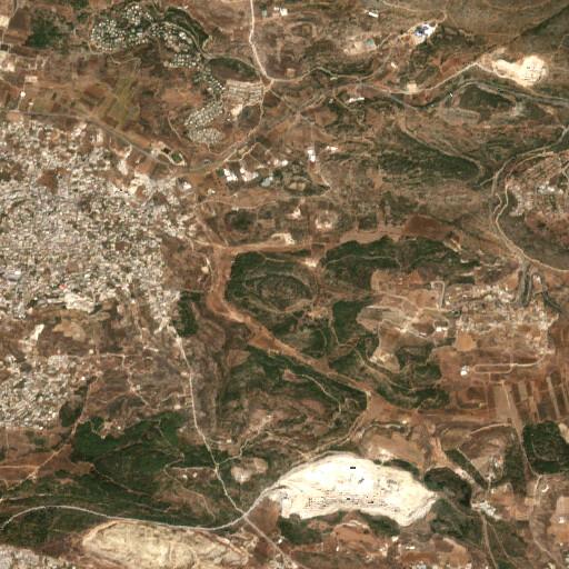 satellite view of the region around Khirbet Abu Mudawwar