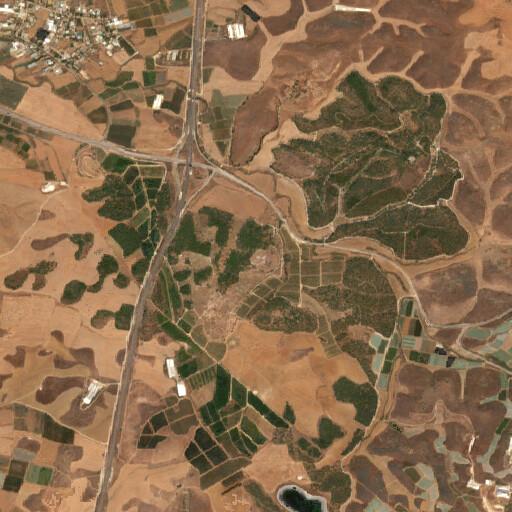 satellite view of the region around Khirbet a Ra'i