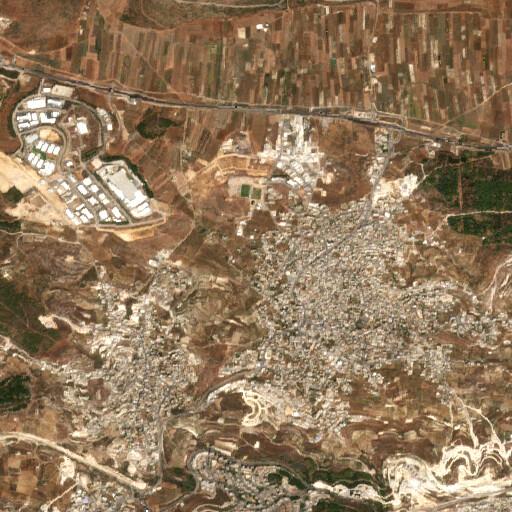 satellite view of the region around Karm er Ras