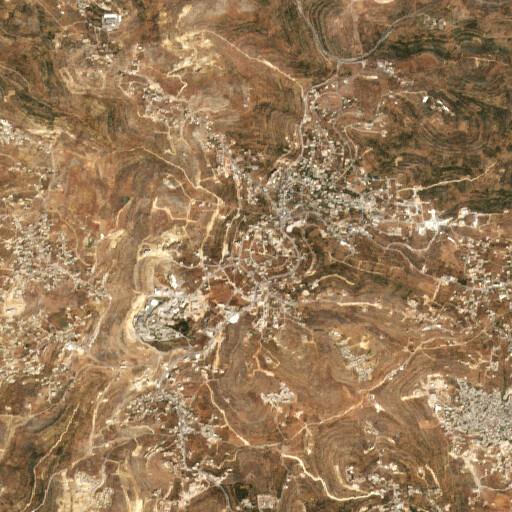 satellite view of the region around Khirbet Bir Zeit